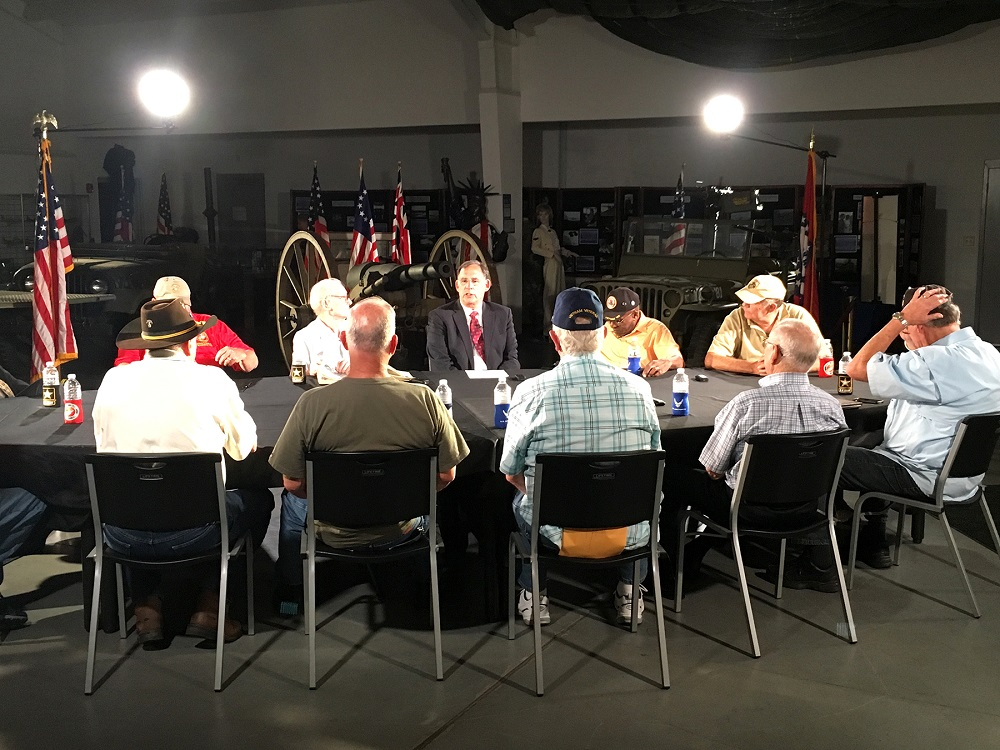 Veteran's Listening Tour with Arkansas's senior senator John Boozman with 15 Vietnam War veterans hosted by AETN for The Vietnam War
