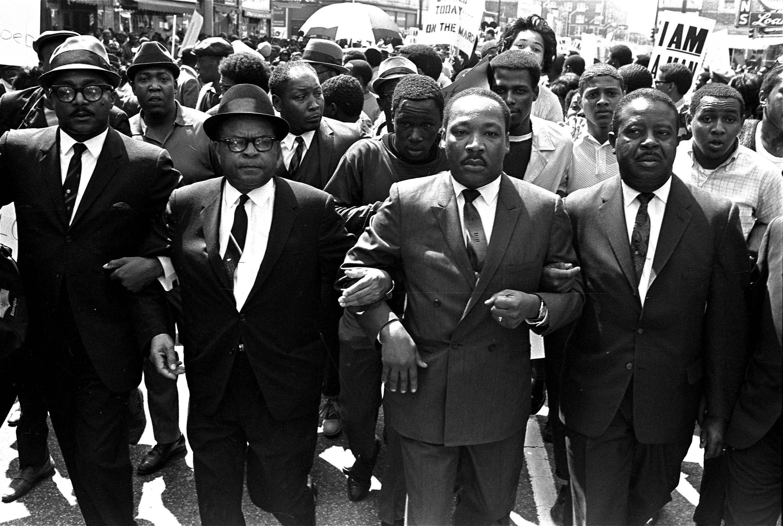 Bishop Julian Smith, Dr. Martin Luther King, Jr., and Rev. Ralph Abernathy