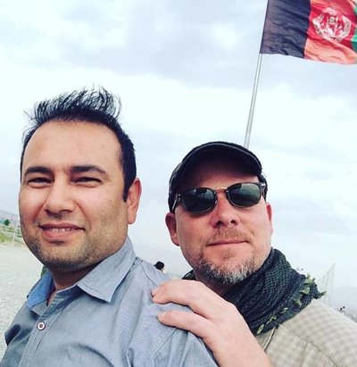 Zabihullah Tamanna, left, and David Gilkey. Photo by Monika Evstatieva/NPR